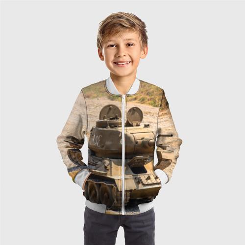 Детский бомбер 3D  Фото 05, Танк т34-85