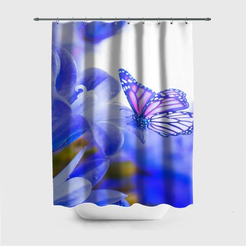Штора 3D для ванной Бабочки Фото 01