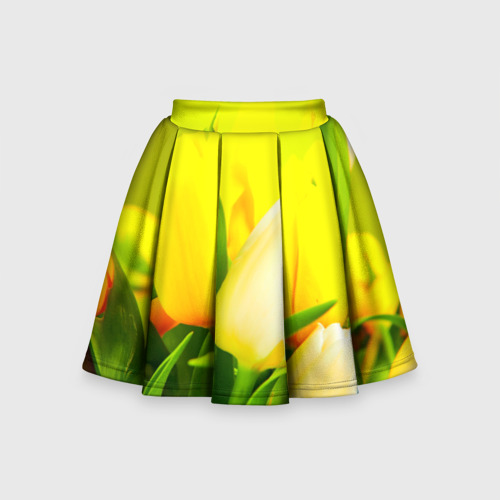 Детская юбка-солнце 3D Тюльпаны