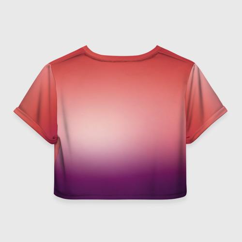 Женская футболка 3D укороченная  Фото 02, IT`S SUMMER TIME