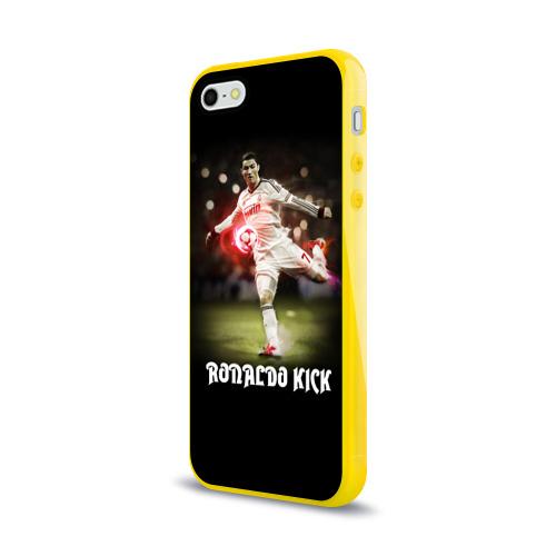 Чехол для Apple iPhone 5/5S силиконовый глянцевый  Фото 03, Удар Роналдо