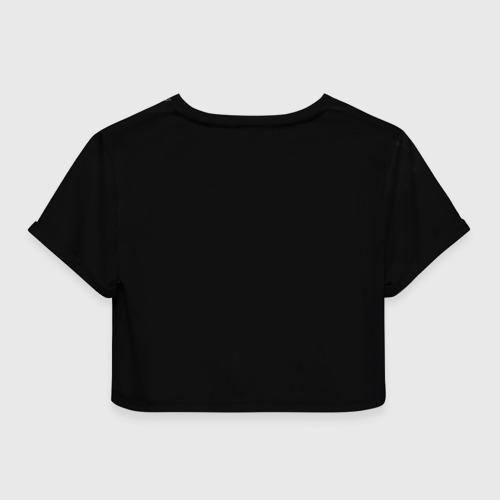 Женская футболка 3D укороченная  Фото 02, Удар Роналдо