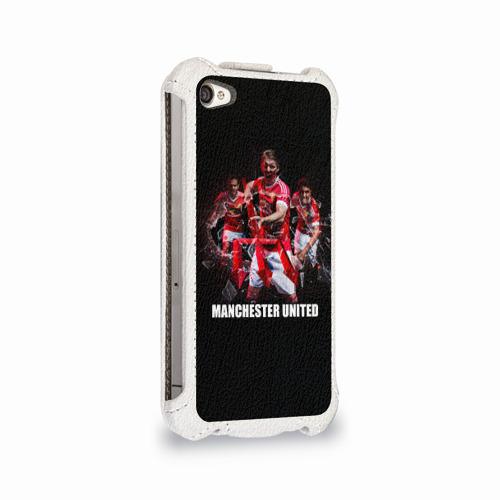 Чехол для Apple iPhone 4/4S flip  Фото 02, Manchester united