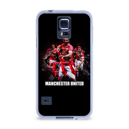 Чехол для Samsung Galaxy S5 силиконовый  Фото 01, Manchester united