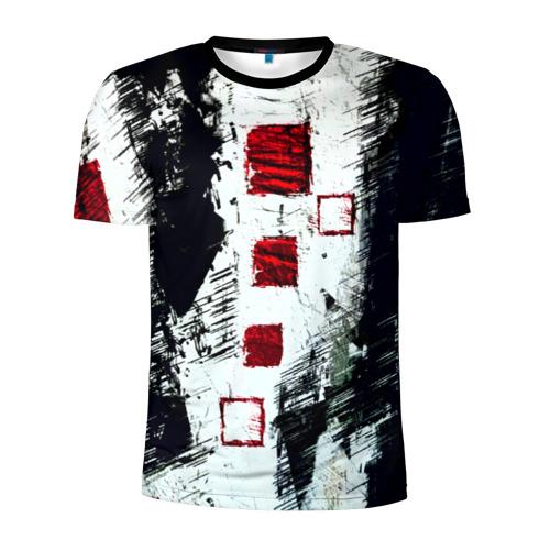 Мужская футболка 3D спортивная Штриховка