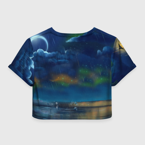 Женская футболка 3D укороченная  Фото 02, Тоторо