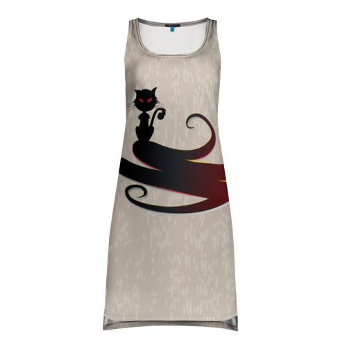 Платье-майка 3D  Фото 01, Чёрный кот