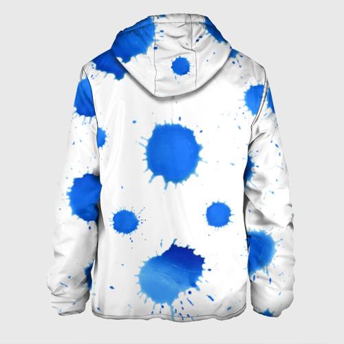Мужская куртка 3D  Фото 02, Синие кляксы