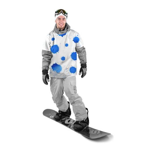 Накидка на куртку 3D Синие кляксы