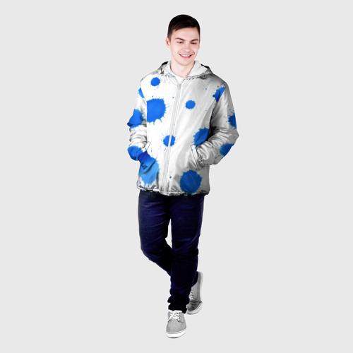 Мужская куртка 3D  Фото 03, Синие кляксы