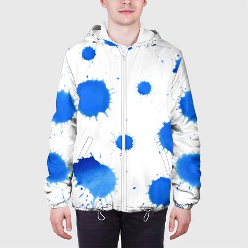 Мужская куртка 3D  Фото 04, Синие кляксы