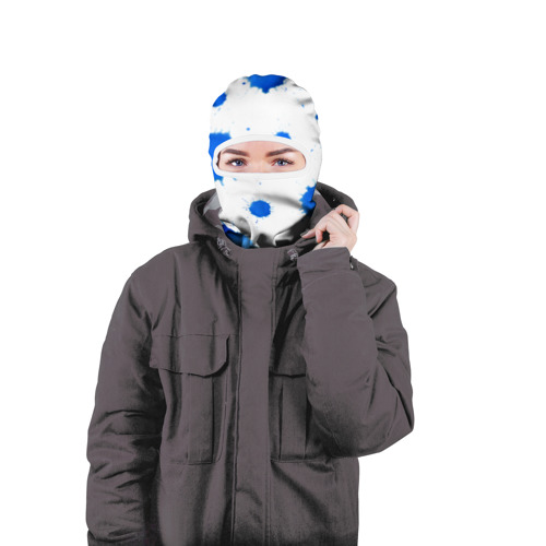 Балаклава 3D  Фото 04, Синие кляксы