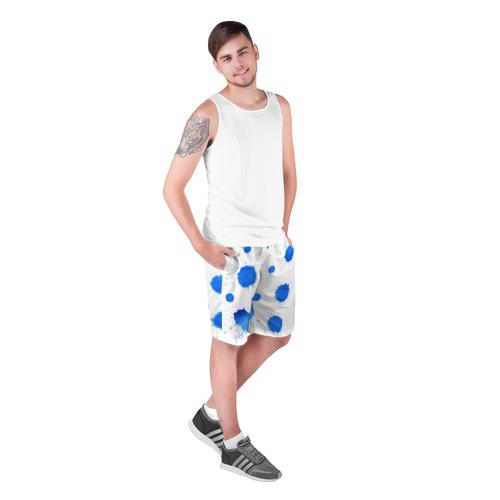 Мужские шорты 3D  Фото 03, Синие кляксы
