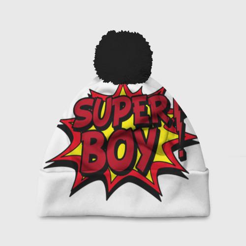 Шапка 3D c помпоном Super boy
