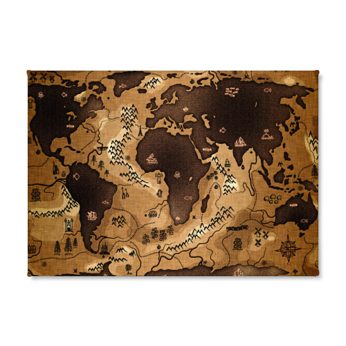 Холст прямоугольный  Фото 02, Карта мира