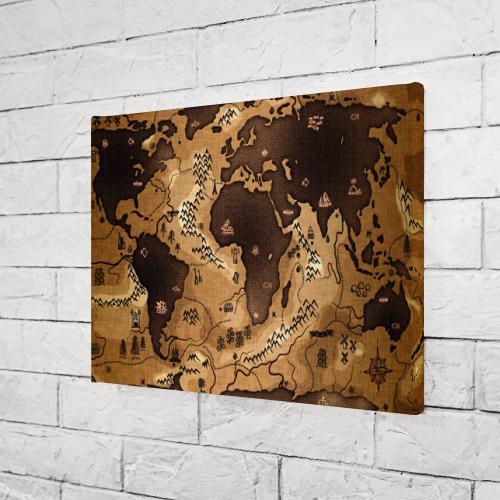Холст прямоугольный  Фото 03, Карта мира