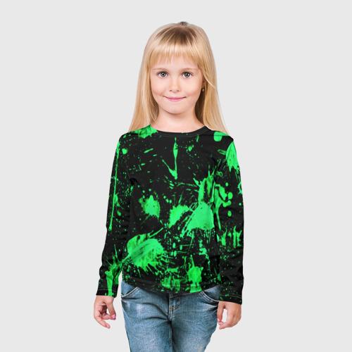 Детский лонгслив 3D  Фото 03, Брызги красок