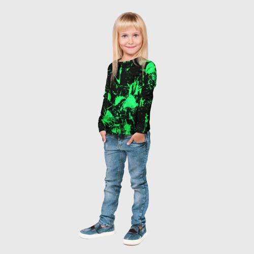 Детский лонгслив 3D  Фото 04, Брызги красок