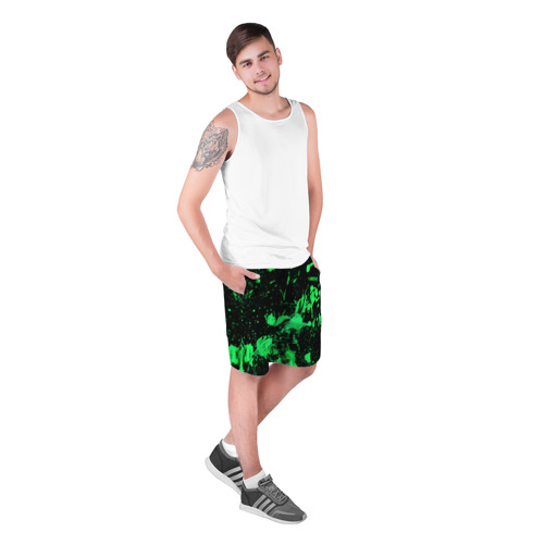 Мужские шорты 3D Брызги красок Фото 01