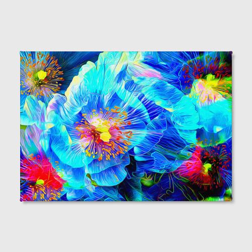 Холст прямоугольный Голубой цветок Фото 01