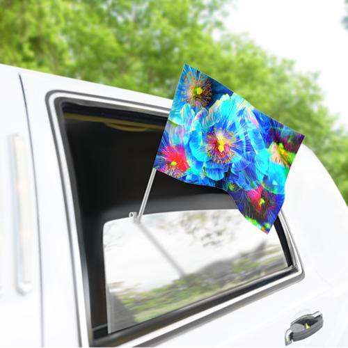 Флаг для автомобиля Голубой цветок Фото 01