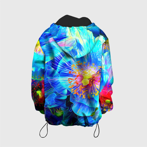 Детская куртка 3D Голубой цветок Фото 01