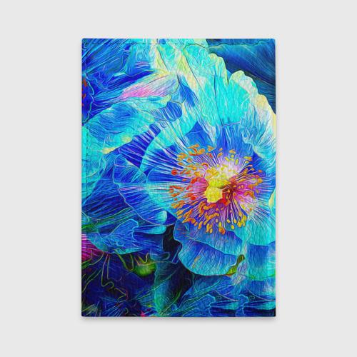 Обложка для автодокументов Голубой цветок Фото 01
