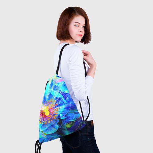 Рюкзак-мешок 3D Голубой цветок Фото 01