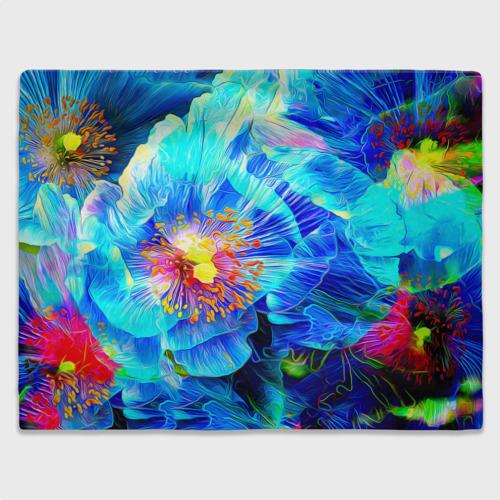 Плед 3D Голубой цветок Фото 01