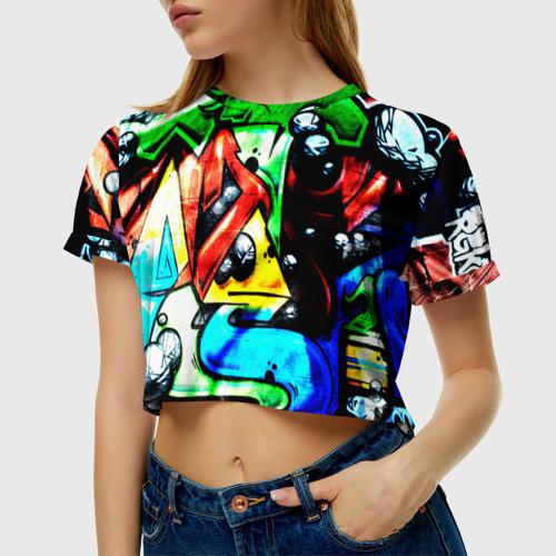 Женская футболка 3D укороченная  Фото 01, Искусство