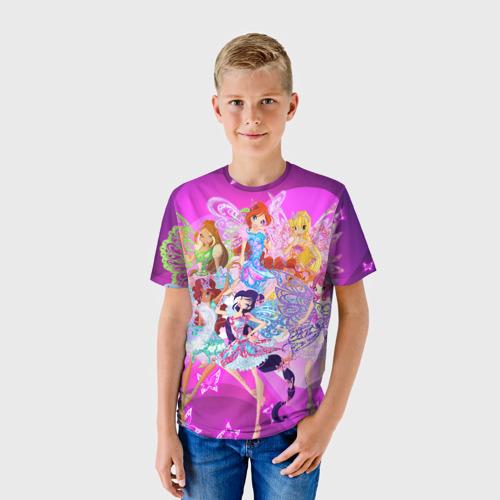 Детская футболка 3D  Фото 01, Winx