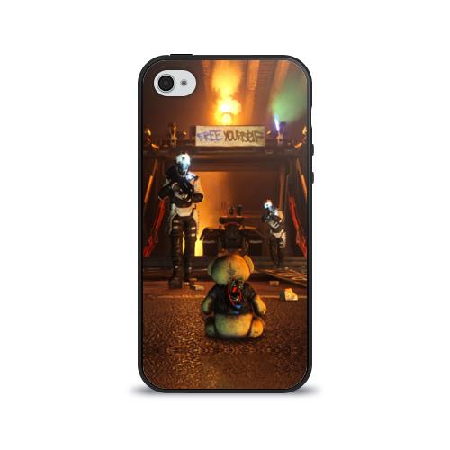 Чехол для Apple iPhone 4/4S силиконовый глянцевый Bear от Всемайки