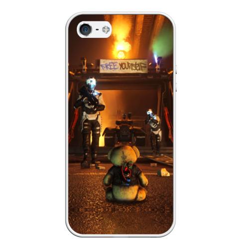Чехол силиконовый для Телефон Apple iPhone 5/5S Bear