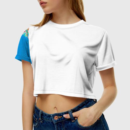 Женская футболка 3D укороченная  Фото 01, Клуб Винкс