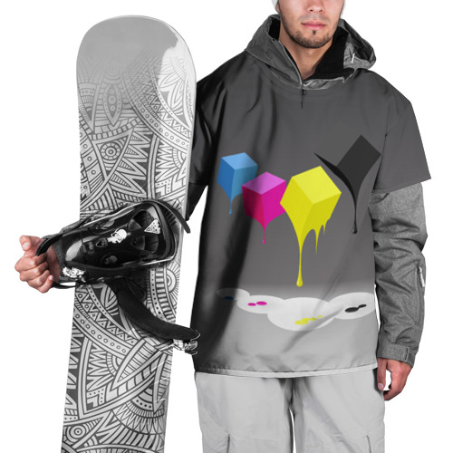 Накидка на куртку 3D  Фото 01, Краски-кубики