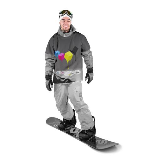 Накидка на куртку 3D  Фото 03, Краски-кубики