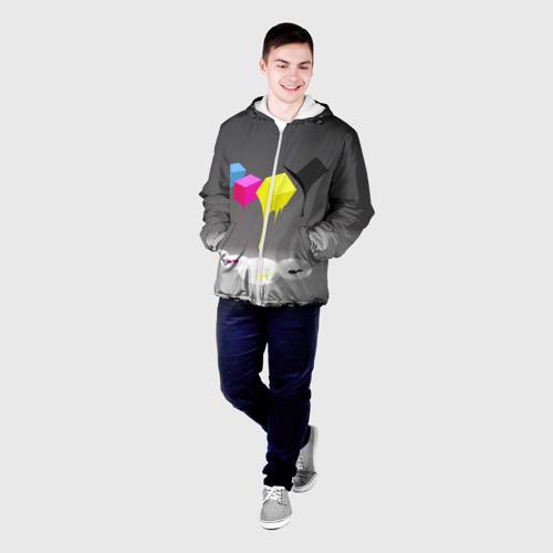 Мужская куртка 3D  Фото 03, Краски-кубики