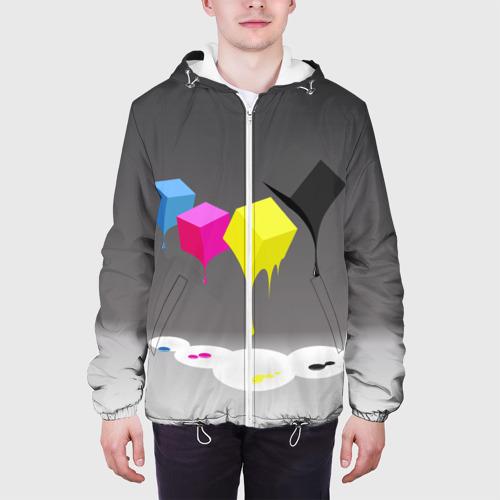 Мужская куртка 3D  Фото 04, Краски-кубики