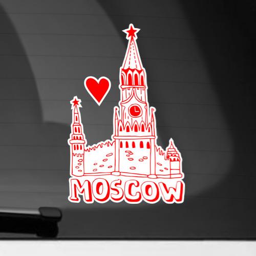 Наклейка на автомобиль Москва