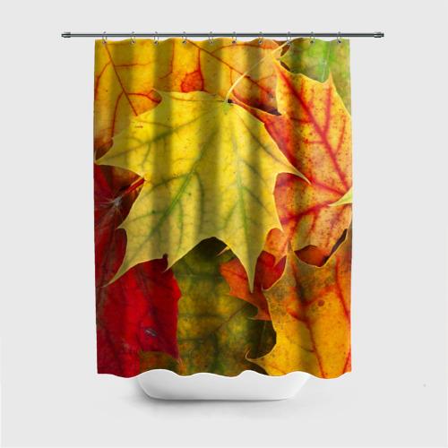 Штора для ванной Кленовые листья от Всемайки