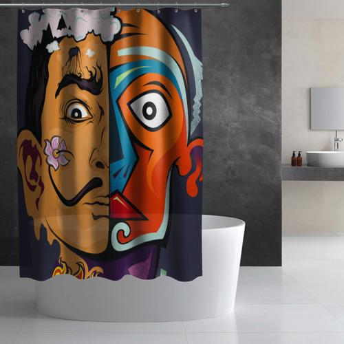 Штора 3D для ванной  Фото 03, Сальвадор Дали