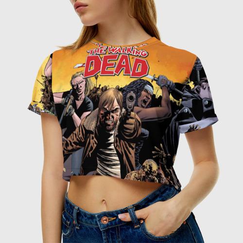 Женская футболка Cropp-top TWD comix