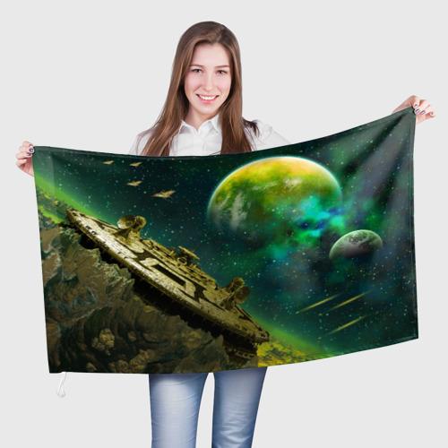 Флаг 3D Космос One фото