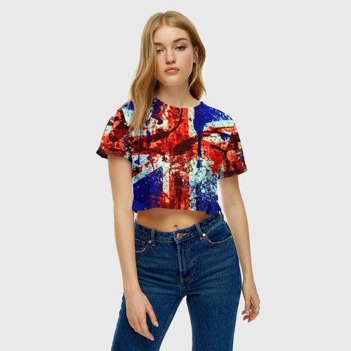 Женская футболка 3D укороченная  Фото 04, Англия