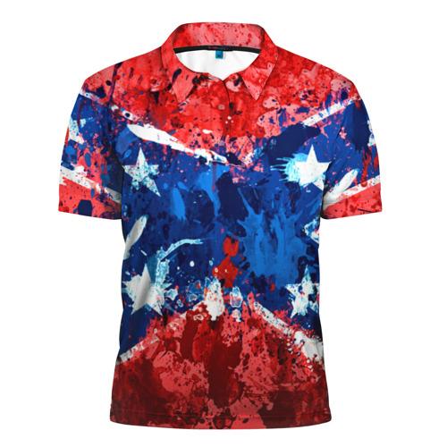 Мужская рубашка поло 3D Флаг