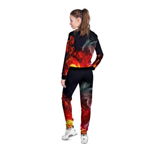 Женская олимпийка 3D Огонь Фото 01