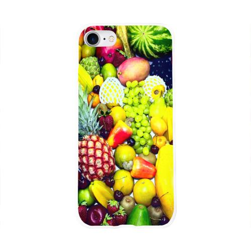 Чехол для Apple iPhone 8 силиконовый глянцевый  Фото 01, Фрукты