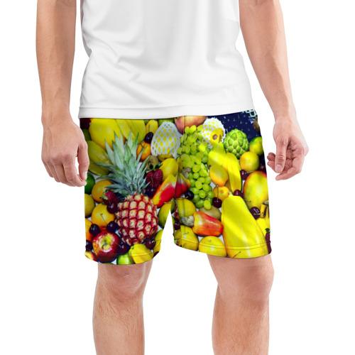 Мужские шорты 3D спортивные  Фото 03, Фрукты