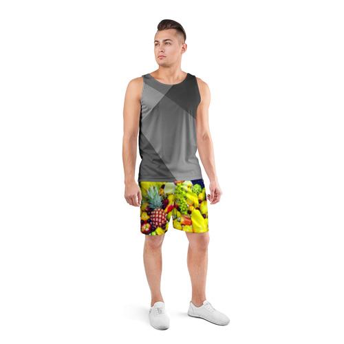 Мужские шорты 3D спортивные  Фото 04, Фрукты