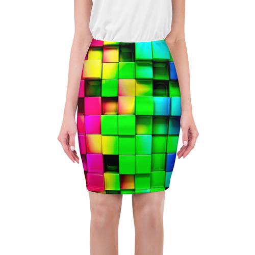 Юбка 3D Кубики